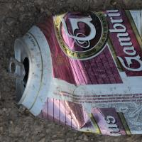 Photo Textures of Drink Can Damaged