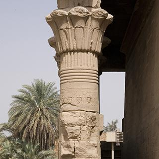 Egypt Dendera Pillars