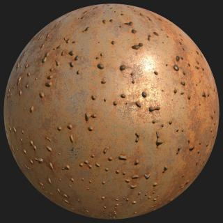 Metal Rusty Substance Material