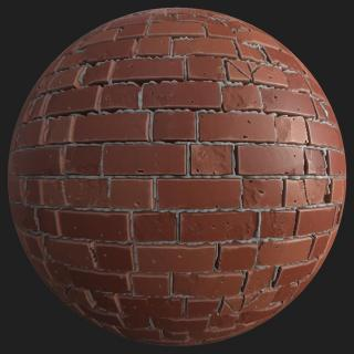 Wall Brick Damaged PBR