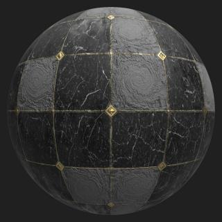 Marble Floor Tiles Damaged PBR #2