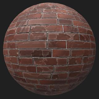 Wall Brick Old PBR #2