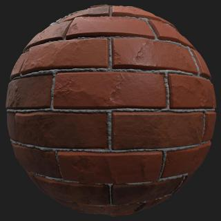 Wall Brick Damaged PBR #2