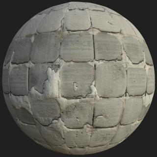 Damaged Tile PBR Texture