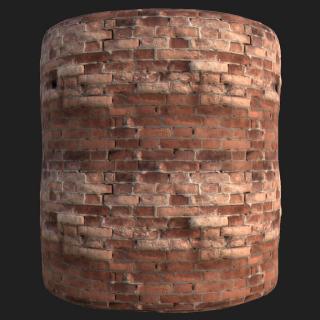 Wall Brick Old PBR Texture