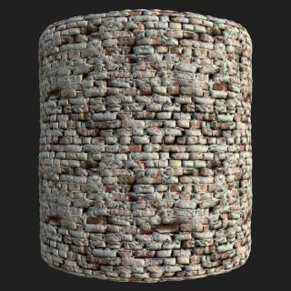 Wall Brick Old PBR Texture #2