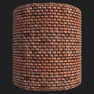 Wall Brick Old PBR Texture #3