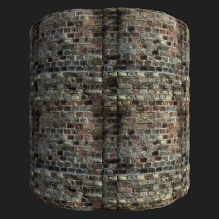 Wall Brick Old PBR Texture #4