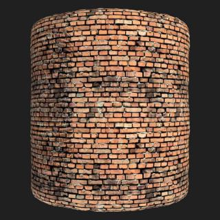 Wall Brick Old PBR Texture #7