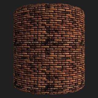 Wall Brick Old PBR Texture #8
