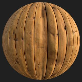 Wood Planks Old PBR Texture #4