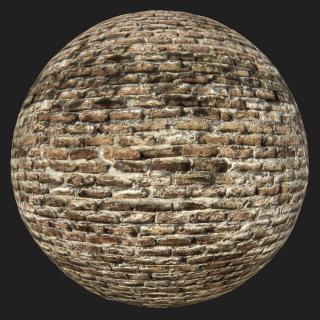 Wall Brick Old PBR Texture #9