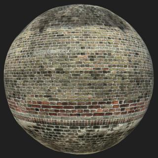 Wall Brick Old PBR Texture #10
