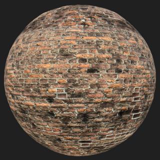 Wall Brick Old PBR Texture #11