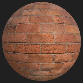 Wall Brick Old PBR Texture #12