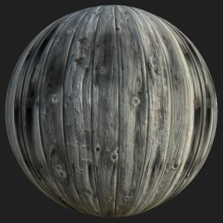 Wood Planks Old PBR Texture #6