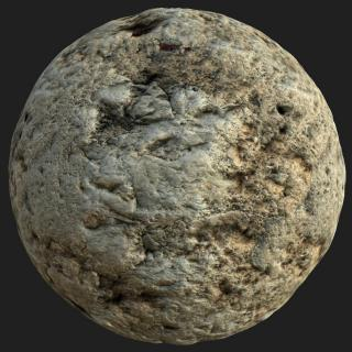 Wall Plaster Damaged PBR Texture #6